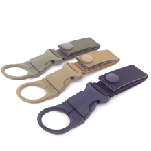 Military Nylon Webbing Tactical Bottle Buckle Outdoor Carabiner Compatible With Molle Bags For Camping EDC Tool AA22-1P