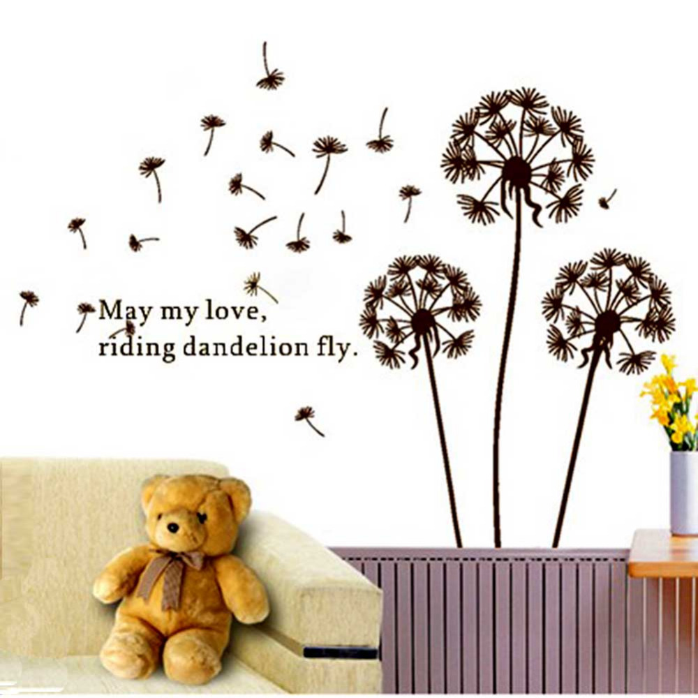 Removable Dandelion Flower Tree in the Wind Wall Sticker Art Mural Wall Decal New Free Shipping(China (Mainland))