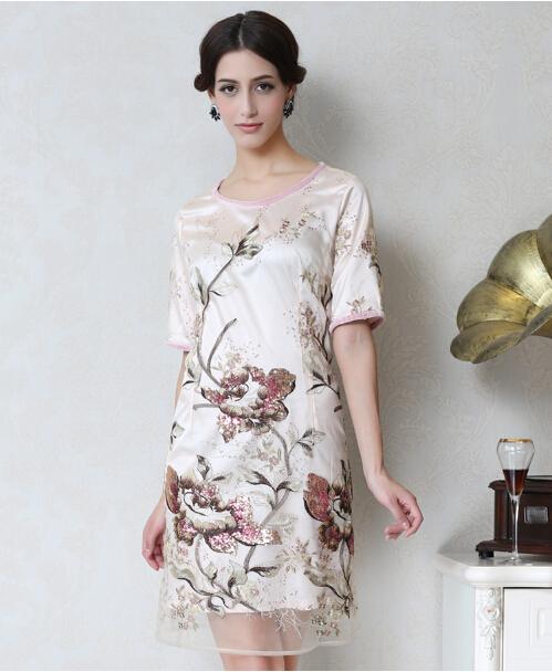 Silk Dresses Sale Style Big Yards Silk Dress