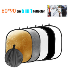 2015 NEW Handheld Collapsible 23.6″x35.4″ 60cmx90cm 5in1 Photograph Studio Light Oval Reflector Disc Free Shipping