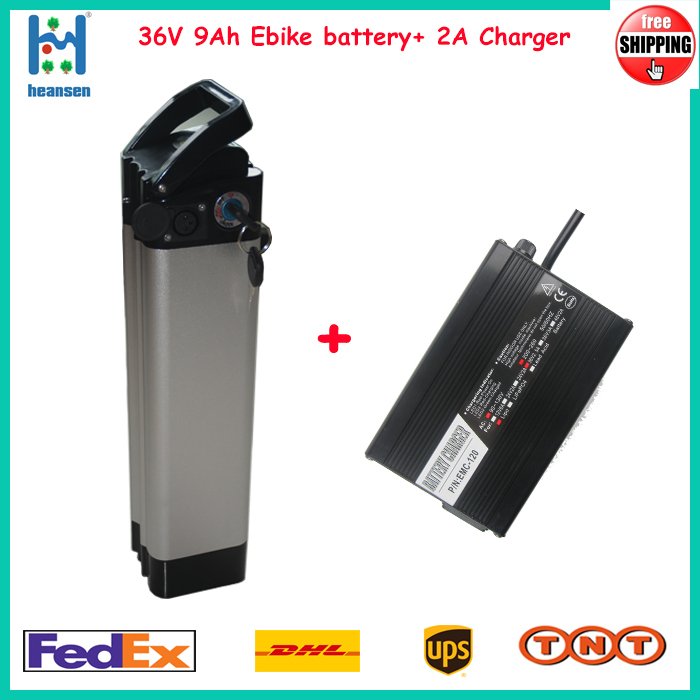 36V 8.8Ah Silver fish ebike battery within Samsung Cell 250W~1000W electric bike +2A charger - ShenZhen Heansen Tech Co.,Ltd store