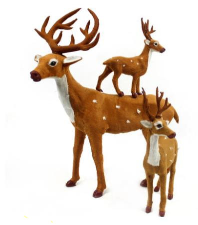 Small Medium Large Welcome Choose Reindeer decoration,outdoor Christmas Ornaments Decoration arvore natal,Child's New Year gift(China (Mainland))