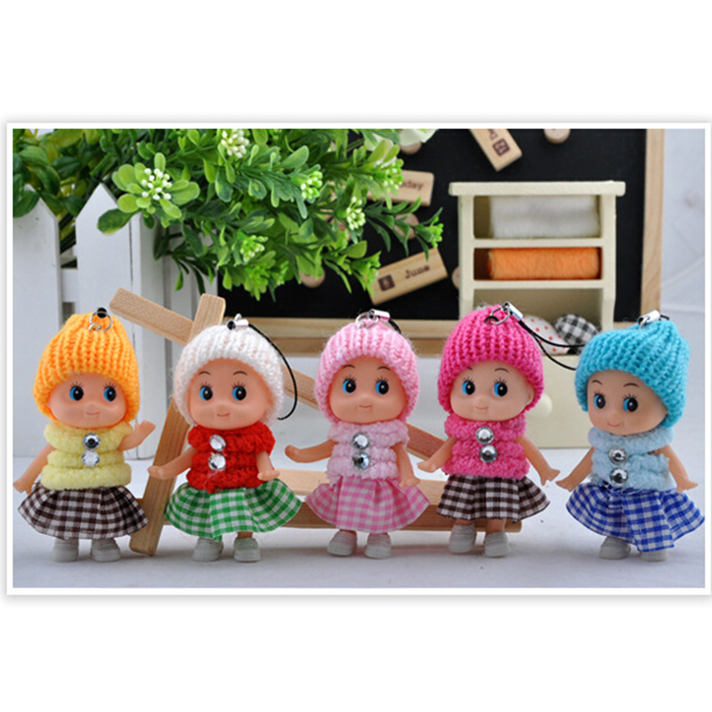 1PCS NEW Kids Toys Soft Interactive Baby Dolls Toy Mini Doll For girls and boys Free Shipping 2016(China (Mainland))
