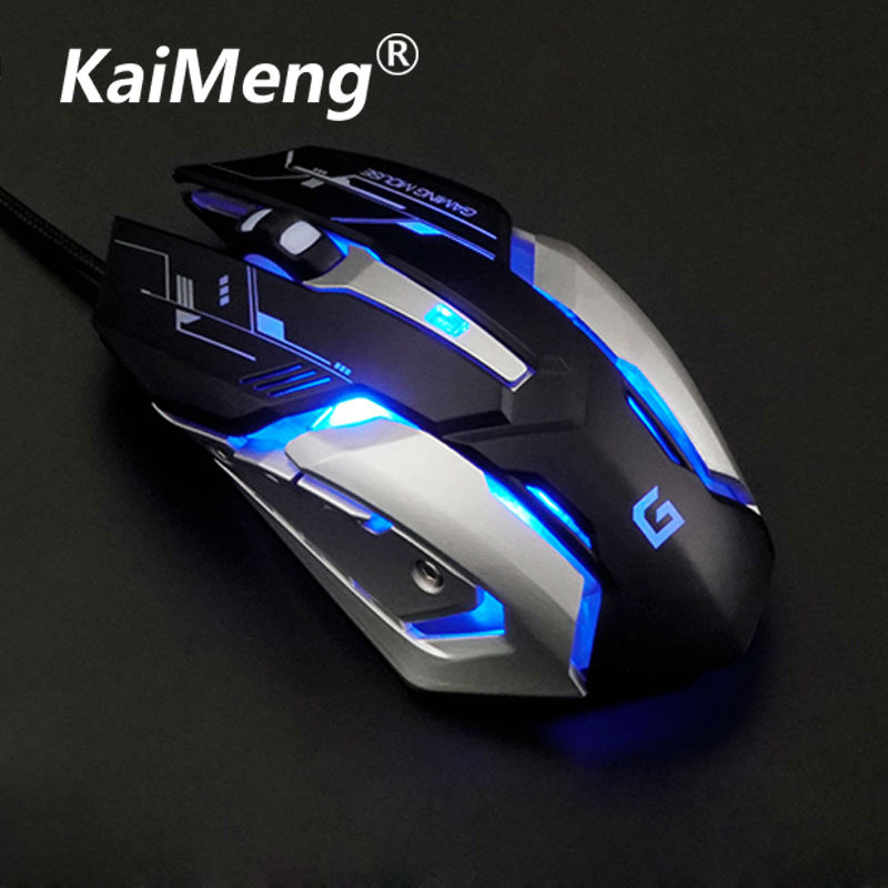 kaiMeng usb wired mouse LED optical 3200DPI computer gaming mouse Professional Adjustable Optical(China (Mainland))