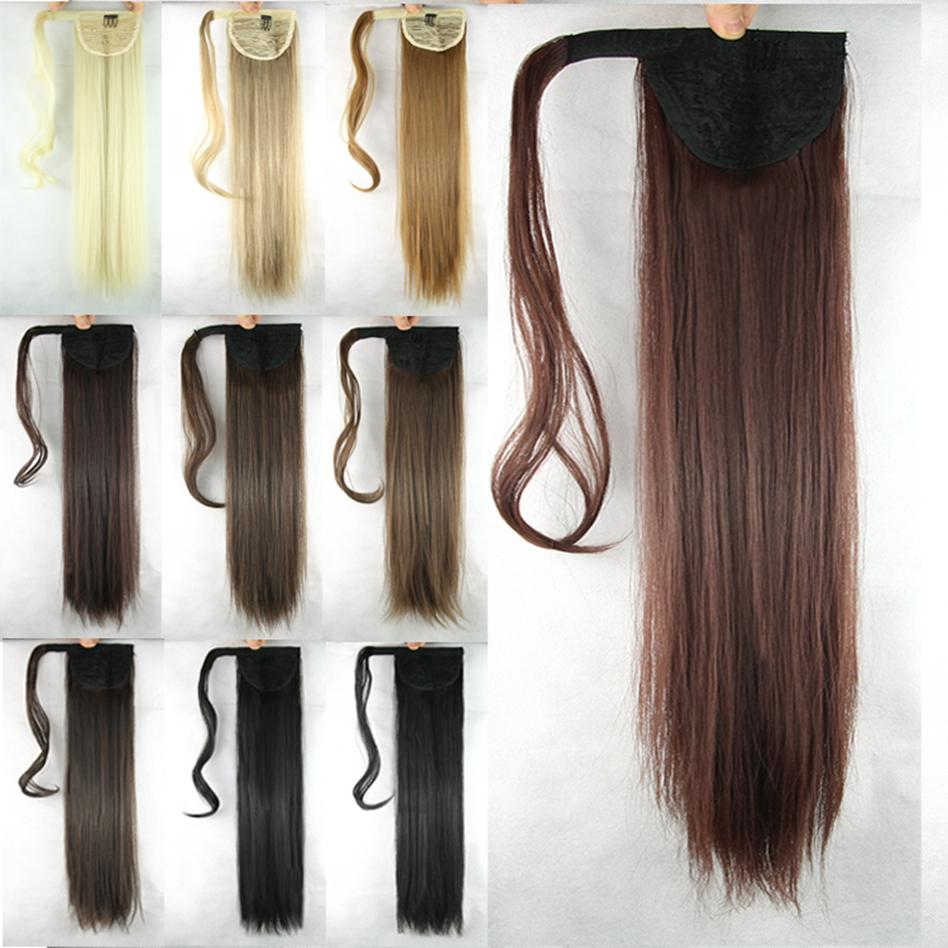 60cm, long straight ponytail, synthetic hair ponytails, remy tail hair rabo de cavalo, hairpieces<br><br>Aliexpress