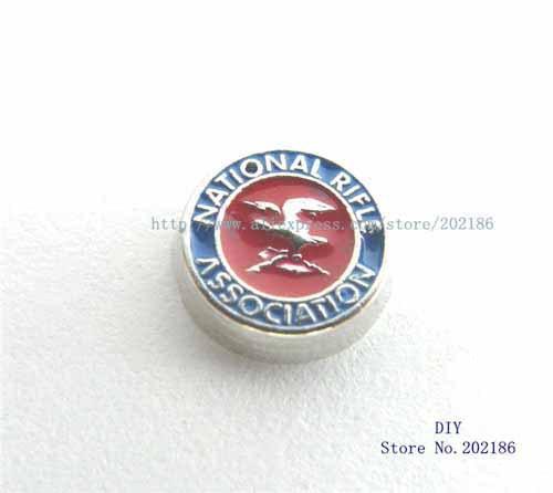 10pcs National Rifle Association floating locket charm Fit floating living locket charm FC1006(China (Mainland))