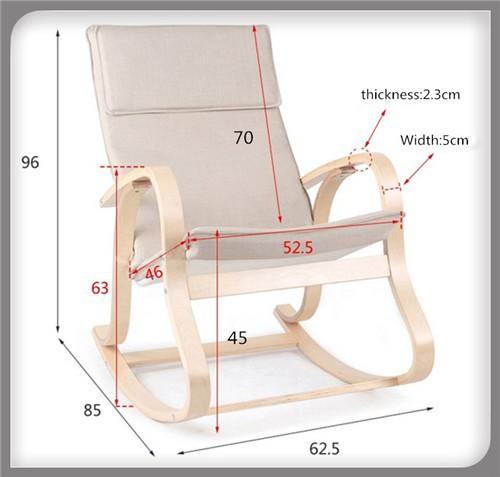 2019 Garden Furniture Bentwood Rocking Chair Glider Wicker Recliner