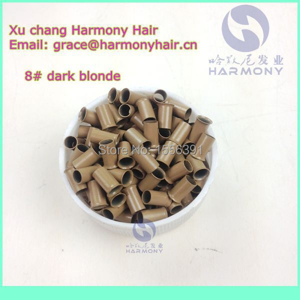 GOOD QUALITY 3.4X3.0X6mm 1000pieces copper hair extension micro ring/hair micro ring/copper micro rings for hair in mixed color<br><br>Aliexpress
