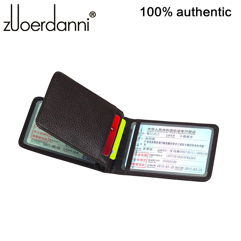 2015 Limited Zuoerdanni Genuine Leather Men's And Women's Tri-view Driving License Bag Id Holder Card With 3 Windows 2 Slots(China (Mainland))