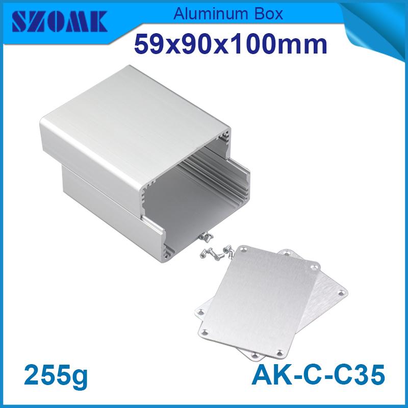 4 pieces aluminum box enclosure metal project box electronics project box 59*90*100mm(China (Mainland))