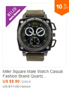 Miler New Brand Men Watches Casual Fashion Classic Leather Strap Man Boys Creative Business Sport Quartz Black Wristwatches