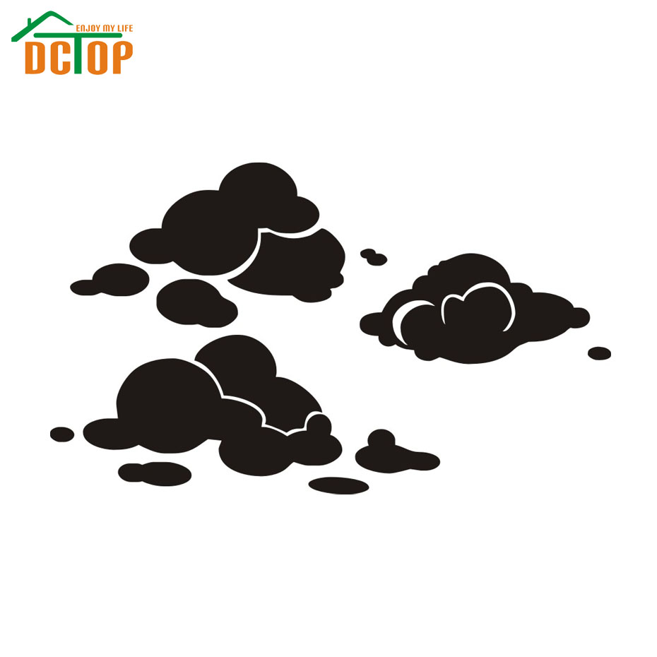 DIY Cloud Wall Sticker Girls Room Removable Vinyl Home Decor Bedroom Nursery Wall Decals Wholesale(China (Mainland))