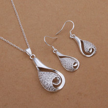 HOT SALE New jewelry sets 925 sterling silver jewelry necklaces & pendants earrings 2 piece sets S261(China (Mainland))
