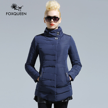 Foxqueen 2016 New Arrive Women Hooded Jacket Cotton Padded Spring Female Coat Plus Size Women's Clothing Winter Bomber Jacket