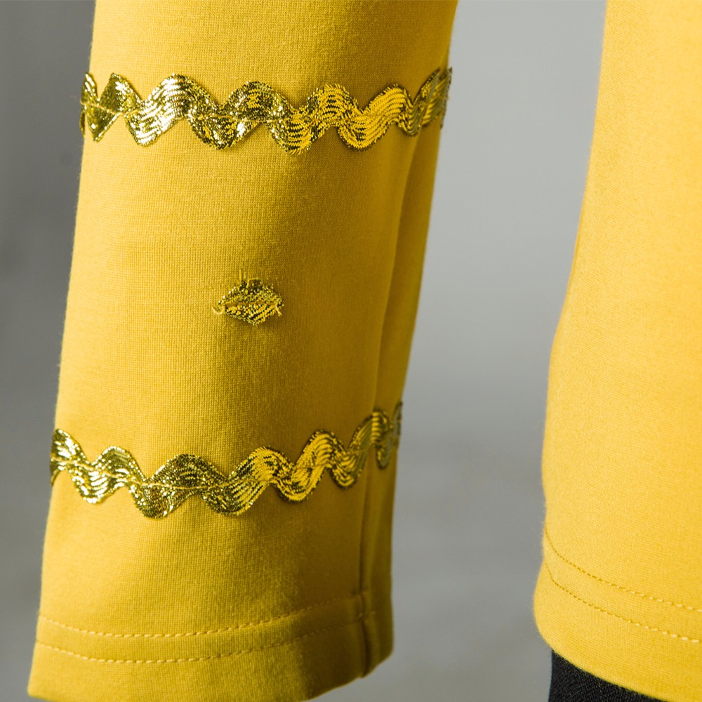 Cosplay Star Trek TOS The Original Series Kirk Shirt Uniform Costume Halloween Yellow Costume (5)
