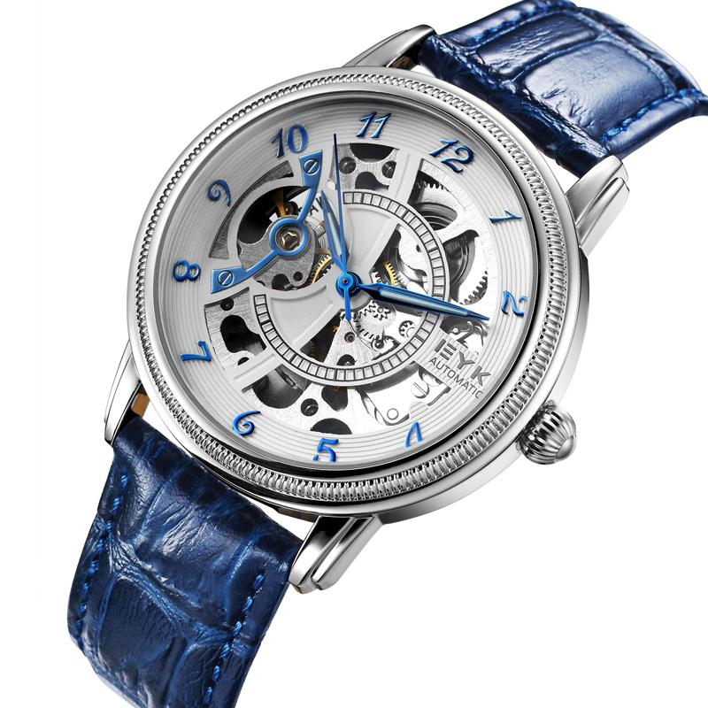 Đồng hồ nam cơ lộ máy dây da EYKI T0209A