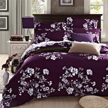 Wholesale High Quality Duvet Cover King Size Set of Bed Linen Luxury Bedding Set Floral Bed Linen Cotton Reactive Printing(China (Mainland))