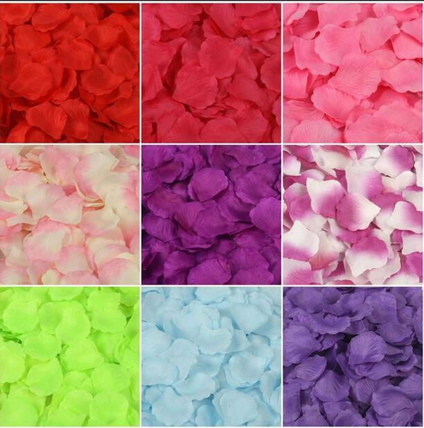 1000 Pcs Silk Rose Petals Wedding Flowers Decor Event Party Supplies Rose Flower Petals Leaves Wedding For Party(China (Mainland))