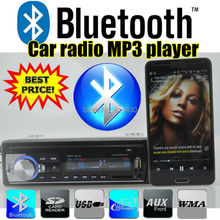 NEW 12V Bluetooth Car Stereo Radio MP3 Audio Player 5V Charger/APE/FLAC/MP3/FM /USB/SD/AUX-IN/ Car Electronics In-Dash 1 DIN(China (Mainland))