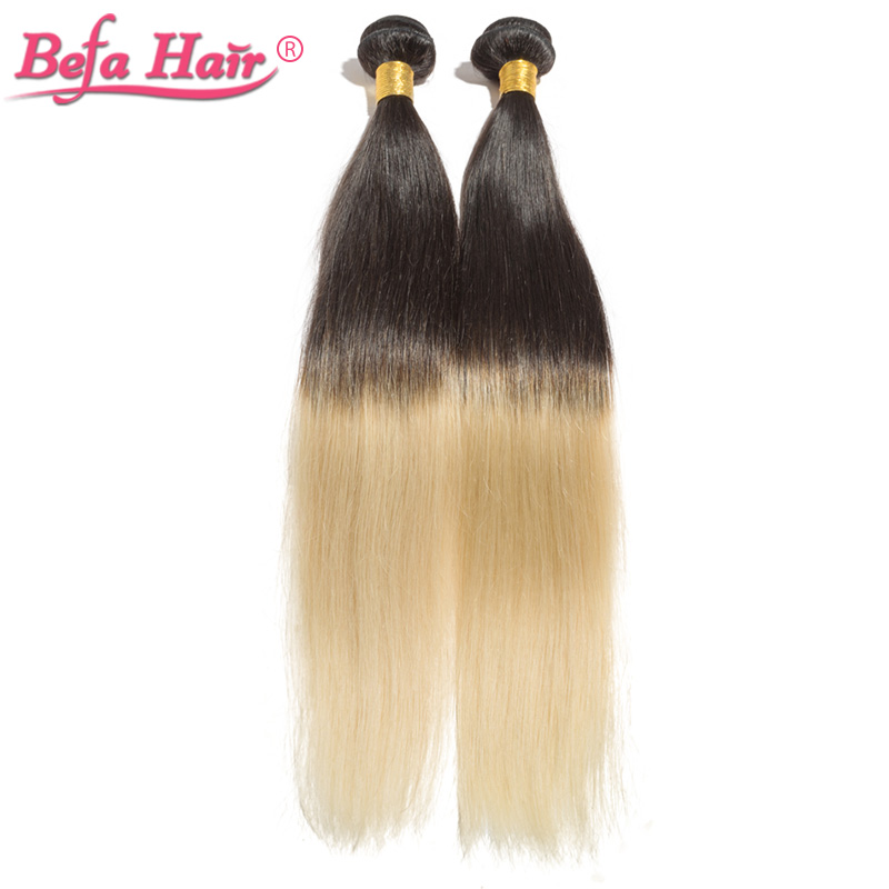 5pcs/lot befa hair products european straight dyed ombre hair extensions no tangle no shedding 1b/613(China (Mainland))