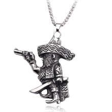 Robber naszyjnik pirat big hat żelazny nabijany denim naszyjnik gra model postaci 2019 nowy vintage czarny srebrny naszyjnik(China)
