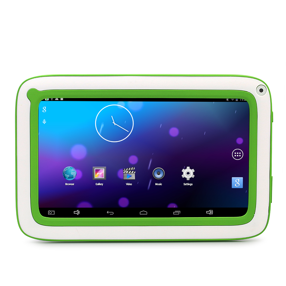 Fashion green cute Children Kids WiFi Tablet 7'' Android 4.4 4GB Allwinner A23 Dual Core Capacitive Screen(China (Mainland))