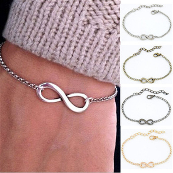 Гаджет  HOT! Fashion Plating Gold Metal Infinite Bracelet & Bangle Silver Charm chain bracelets for women Jewelry Wholesale best friend None Ювелирные изделия и часы