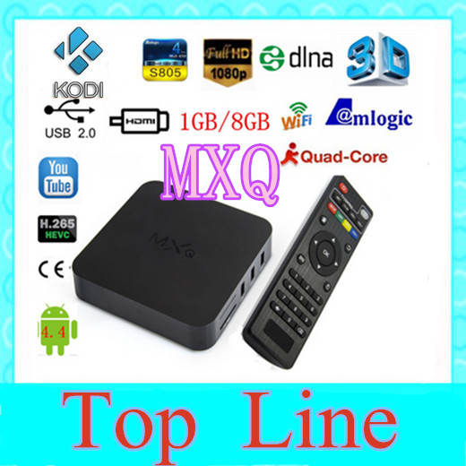 2015 Original New MXQ Android TV BOX Amlogic S805 Quad Core IPTV Android 4.4 Kitkat with KODI better than MX, M8, CS918, Minix(China (Mainland))