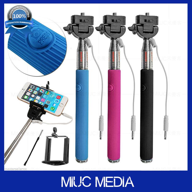 buy extendable handheld palo sefie stick audio wired no bluetooth pau de selfie. Black Bedroom Furniture Sets. Home Design Ideas