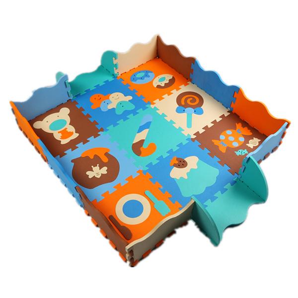 Hot EVA Puzzle Mat Non-slip EVA Floor Mat Foam Play Mats Floor Puzzle Mats Fences Child Protection Game carpet many patterns(China (Mainland))