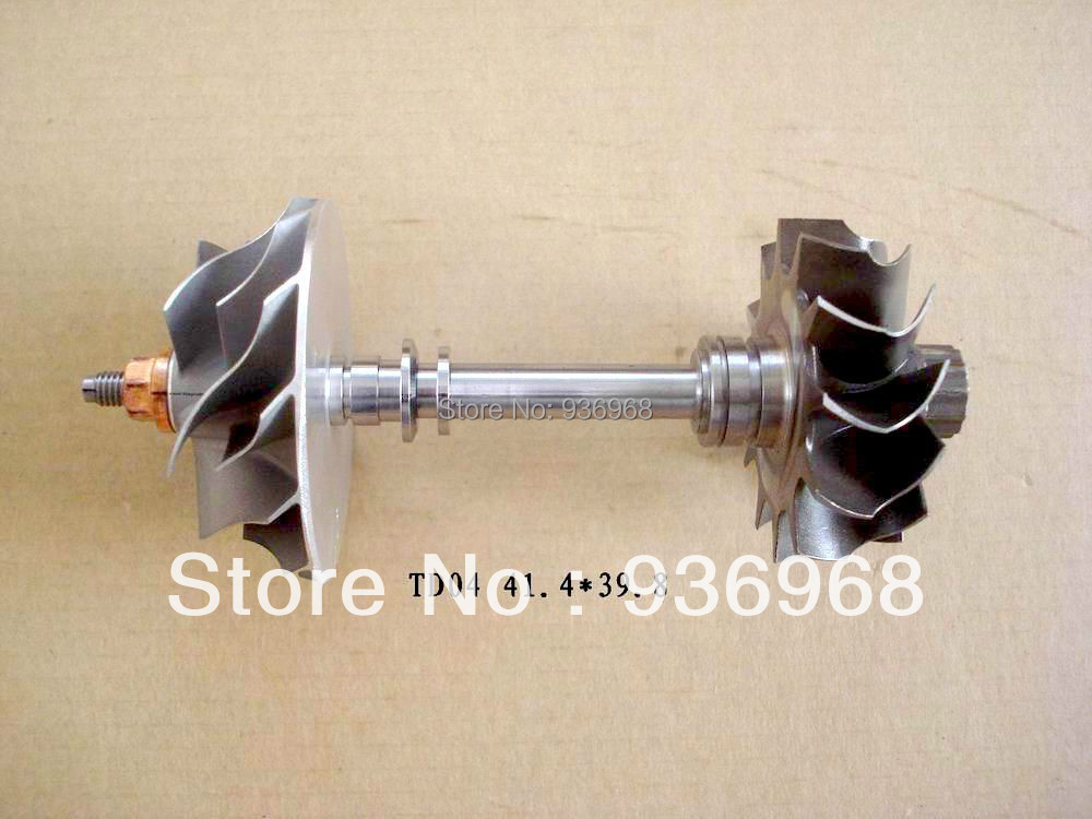 TD04 Turbo part Turbine shaft&wheel 41.3mm*47mm,Compressor wheel 39.8mm*51mm AAA Turbocharger Parts(China (Mainland))