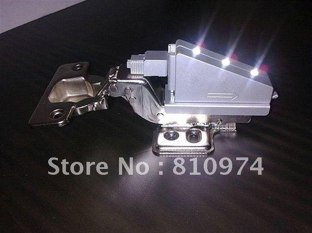 FREE SHIPPING 60 pcs Cabinet Hardware Hinges with LED Hydraulic buffering  Hinge self close HALF OVERLAY