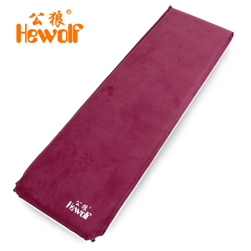 6.5cm thick male wolf suede automatic inflatable cushion moisture-proof mattress outdoor camping tent mat nap mats<br><br>Aliexpress