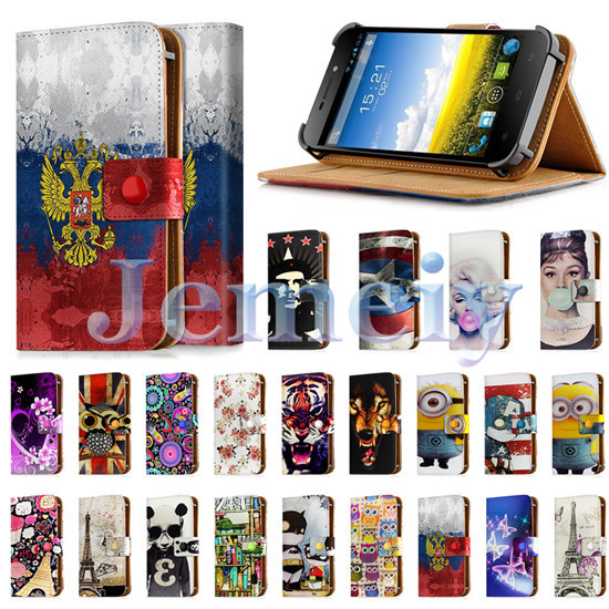 "Universal Phone Case For Fly IQ4501 Evo Energie 4 5 inch 5"", Girl Print PU Leather Skin Wallet Cover Flip Stand Case For iq 4501(China (Mainland))"