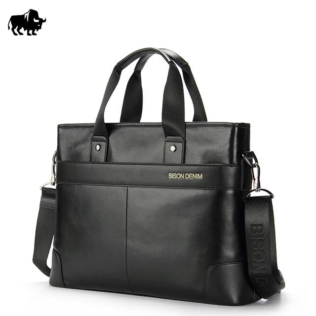 Бизон Джинса бренд Натуральной Кожи 14 ''Ноутбук Портфель Бизнес Hangbag ...