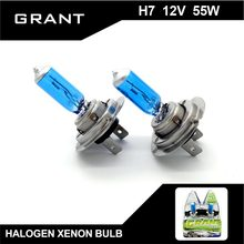 Buy GRANT 2Pcs H7 DC12V 55W 5000K Halogen Xenon Bulbs Pure White Auto Headlights Lamps Ford Benz BMW Audi VW Nissan Mazda Buick for $4.98 in AliExpress store