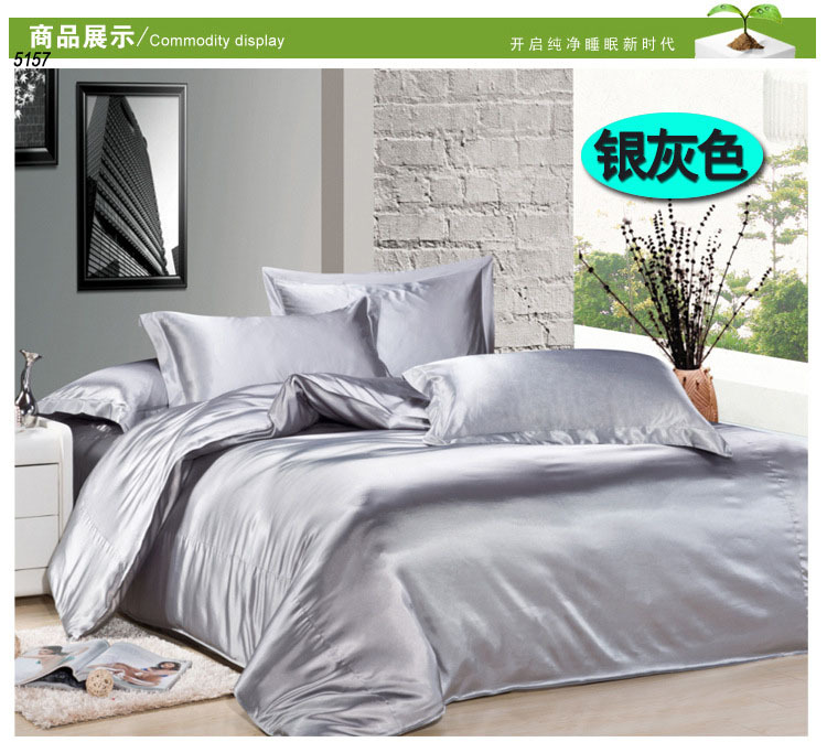 Silk Sheets Twin Bed Silver Silk Bedding Set Twin