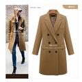 coat long coats winter women jacket female Blends woolen warm overcoat femininos plus size ladies Four