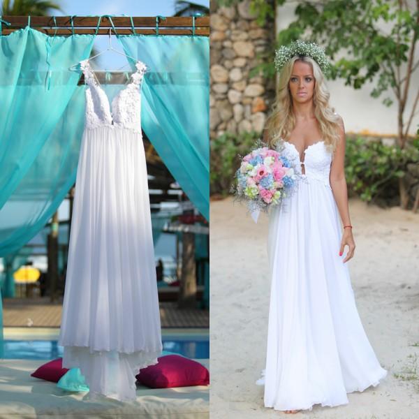 bohème robe de mariée en Ligne à des Grossistes bohème robe de ...