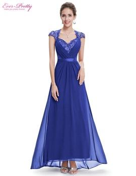 Formal Evening Dress Ever Pretty HE09867 Sexy lady V-neck Diamante Cap Sleeves long Fast Shipping Chiffon Evening Dress