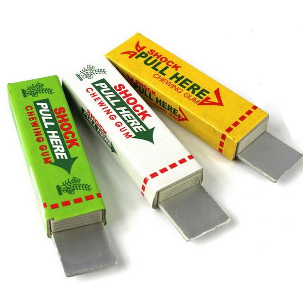Safety Electric Shocking Toy Shock Chewing Gum Trick Joke Prank Gadget Tool Fun(China (Mainland))