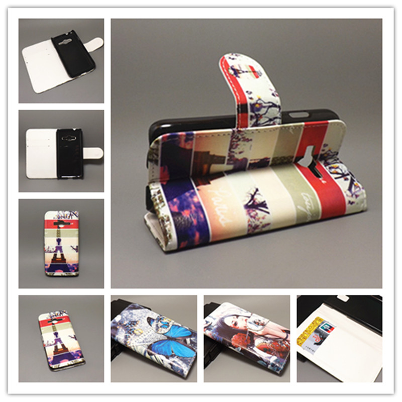 New Butterfly Flower Flag Designer Wallet Flip Stand Book Cover Case For Flip Samsung Galaxy Ace 4 NXT G313h freeshipping(China (Mainland))