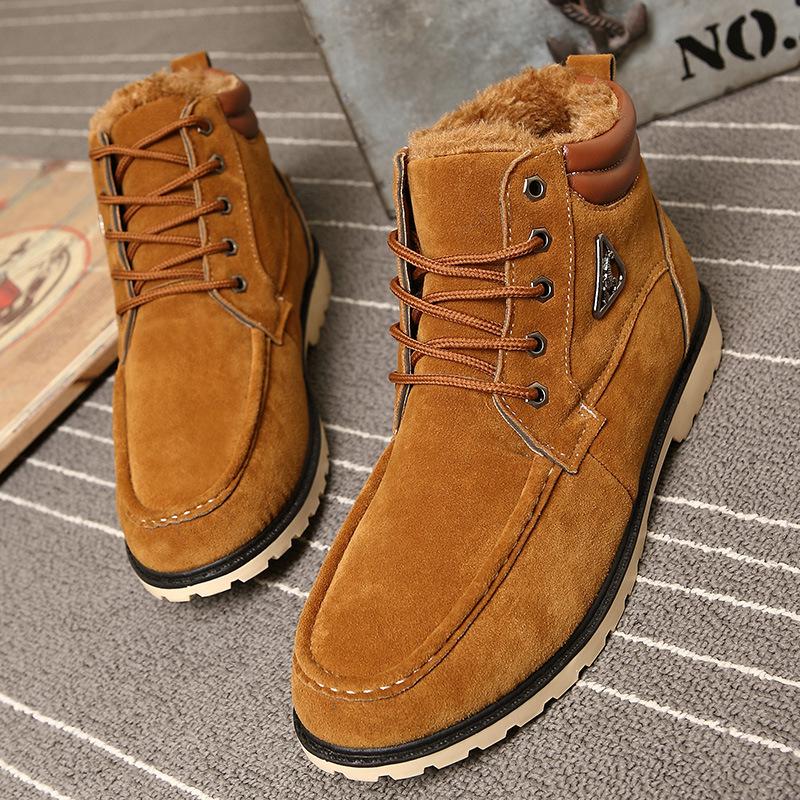 Winter boots men snow boots zapatos hombre 2015 hot fashion Plus velvet warm men ankle boots men shoes