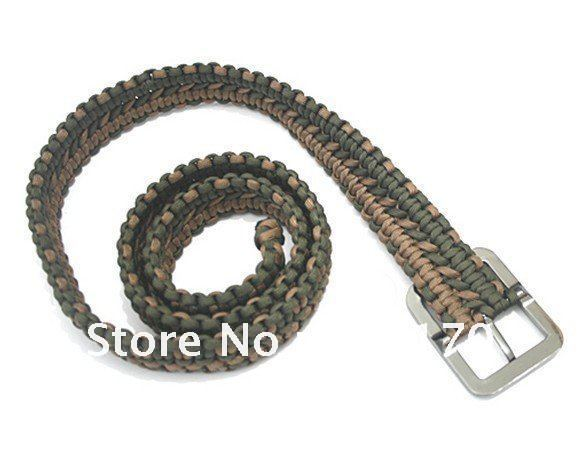 Free shipping high quality handmade paracord belt survival for How to make a belt out of paracord