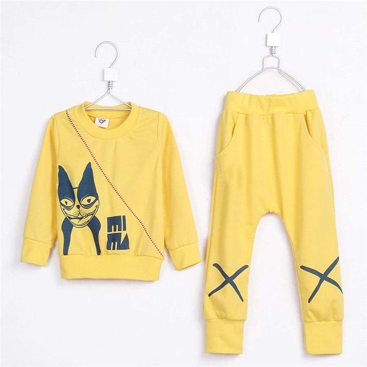 2015 spring and autumn hot sale baby children fashion clothing sets little boys casual sweatshirts and pants A3542(China (Mainland))