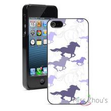 Purple Galloping Horses Protector back skins mobile cellphone cases for iphone 4/4s 5/5s 5c SE 6/6s plus ipod touch 4/5/6