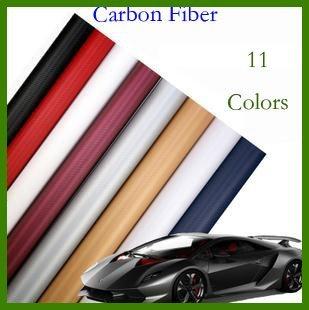 High quality 3D Carbon Fiber film Vinyl Car Sticker Carbon fiber sheet (100*60CM) Free shipping