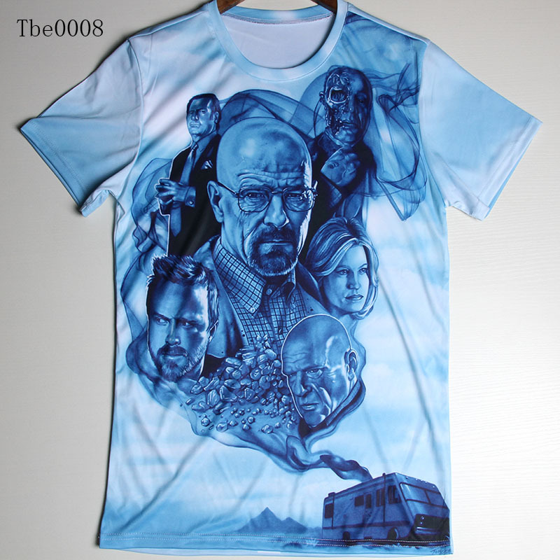 Summer New Fashion Men's 3D T Shirt Breaking Bad /Assassins creed/Moon/ Animal T-Shirt Brand Design Clothes Plus Size S-4XL Tops(China (Mainland))