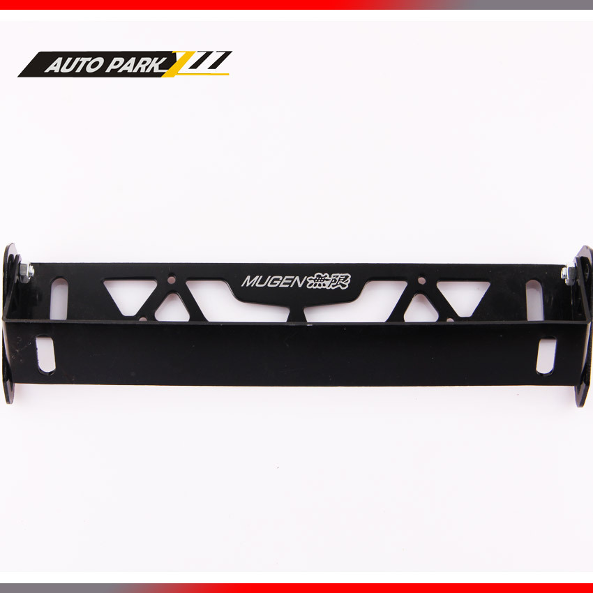 Free shipping high quality auto adjustable aluminum license plate frame holder with mugen logo(China (Mainland))