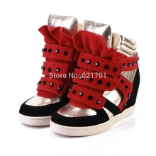 New zapatillas deportivas mujer genuine leather women shoes chaussure femme wedge zapatos mujer
